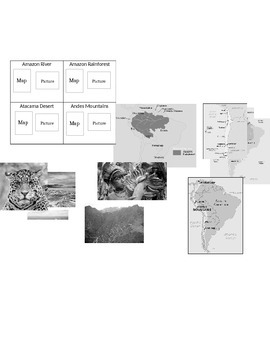 South America Physical Features Foldable