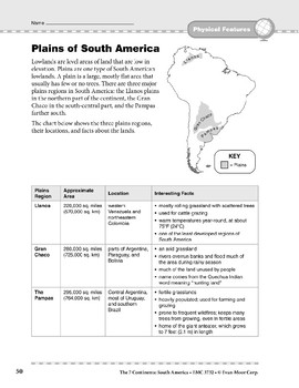 South America: Physical Features: Plains