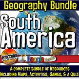 South America Physical Geography Bundle Lesson Plans, Map Activities & Quiz Inca