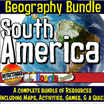 South America Physical Geography Mini Bundle