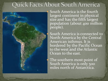 South America Physical & Human Geography Powerpoint