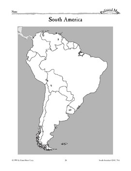 South America: Political Divisions