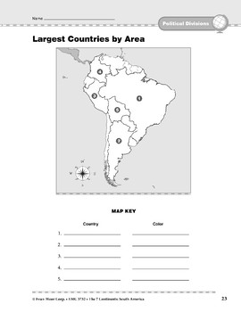 South America: Political Divisions: Countries