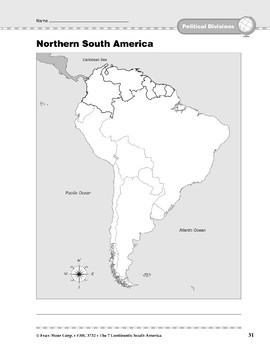 South America: Political Divisions: Northern South America