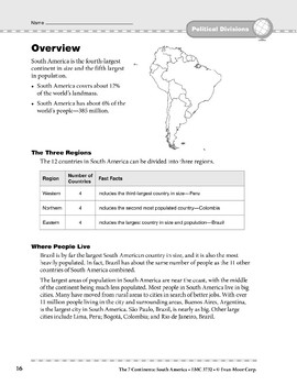 South America: Political Divisions: Overview and Review