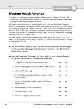 South America: Political Divisions: Western South America