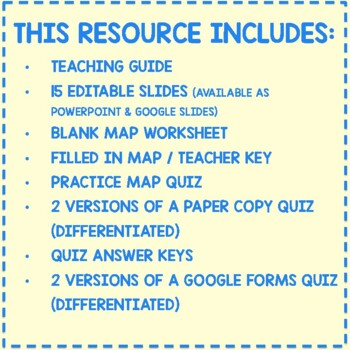 South America Political Map By The Geography Classroom Tpt