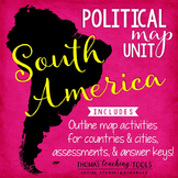 South America Political Map Unit