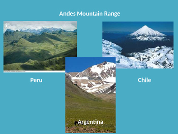 South America PowerPoint, Notes Sheets, and Quiz