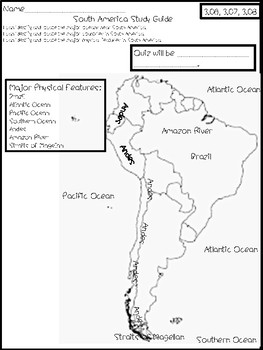 South America Quiz Study Guide by Tennessee Teachin' | TpT on