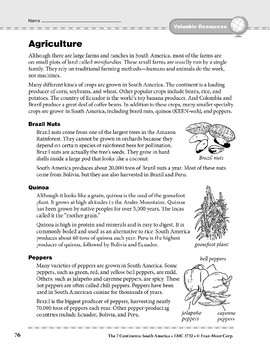 South America: Resources: Agriculture