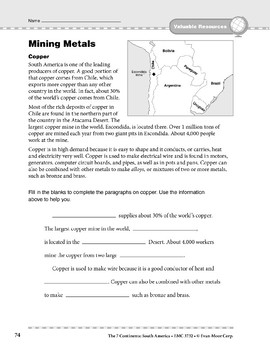 South America: Resources: Mining Metals