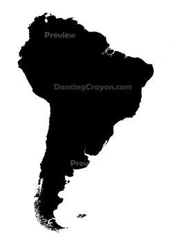 South America - Silhouettes Clip Art