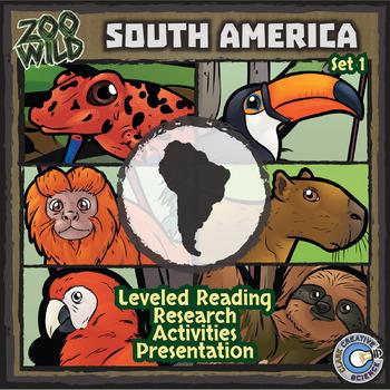 South American Animals - Starter Bundle - Leveled Reading, Slides & Activities