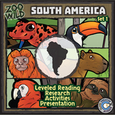 South American Animals - Starter Bundle - Leveled Reading, Slides & Activities