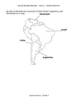 South America Test Review