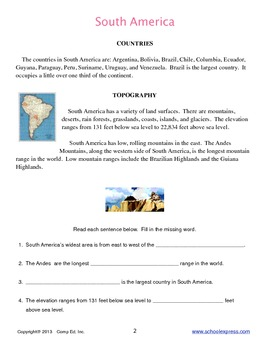 South America Thematic Unit