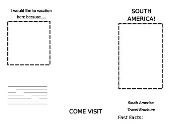South America Travel Brochure