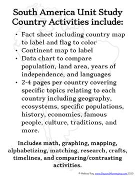 South America Unit Study
