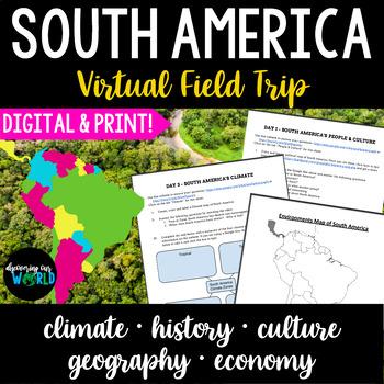South America Virtual Field Trip {Webquests}