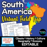 South America Virtual Field Trip {Webquests}