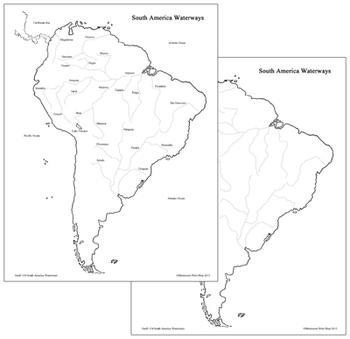 South America Waterways Map