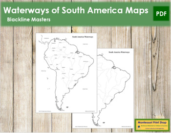 South American Waterways Map