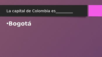 South America country and capital review game!