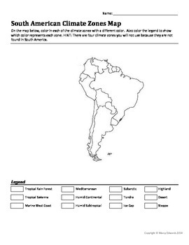 Climate Zones Map KS2 Lesson Plan, Worksheet and Map by ...