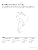 South American Climate Zones Map Worksheet