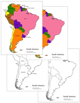 South America Control Maps and Masters