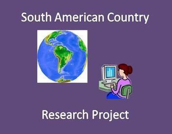 South American Country Research Project