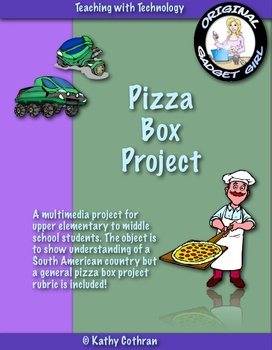 South American Elementary Geography Pizza Project (or any other country!)