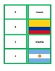 South American Flag and Country Name Matching Cards