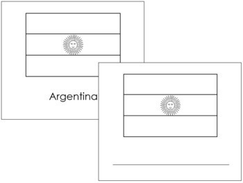 South American Flags: Outlines