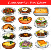 South American Food Clipart Set