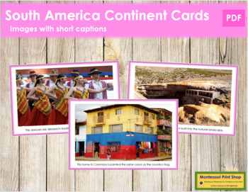 South American Geography Folder (color borders)