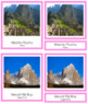 South American Landmarks: 3-Part Cards (color borders)