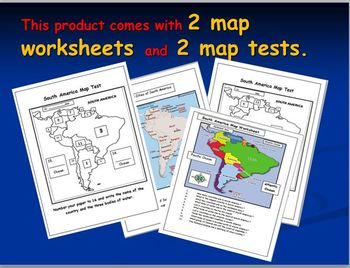 South American Map Activities