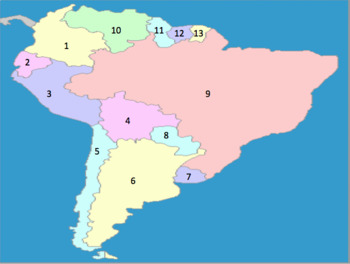 South American countries by number