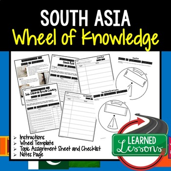 South Asia Activity, Wheel of Knowledge (Interactive Notebook)