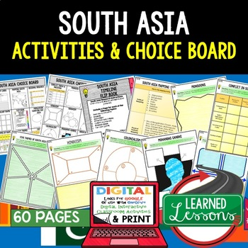 South Asia Choice Board Activities (Paper and Google) Geography