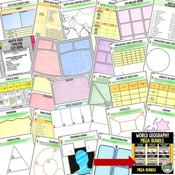 South Asia Activities, Choice Board, Print & Digital, Google Geography