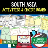 South Asia Activities, Choice Board, Google Geography, Dis