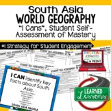 South Asia Geography I Cans, Self-Assessment of Mastery, S