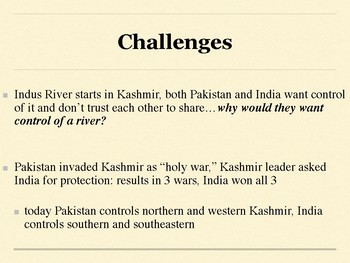 South Asia Geography Reading Guide Overview with Mini Lesson