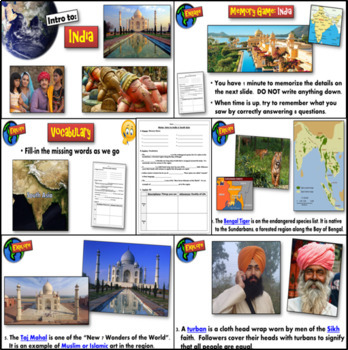 South Asia : Intro to the Region ~ Complete 5-E Guided Lesson