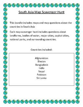 South Asia Map Scavenger Hunt