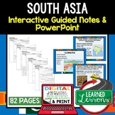 South Asia Notes and PowerPoints Geography Print, Digital, Google