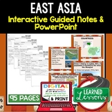 East Asia Notes and PowerPoints Geography Print, Digital, Google